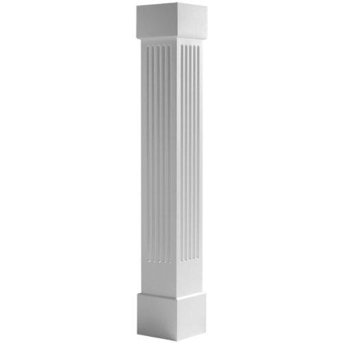 (Endura-Craft Craftsman Column Wrap (Cellular PVC), Non-Tapered, Fluted, Standard Base & Capital, 24