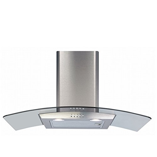 CDA ECP82SS 80cm Curved Glass Cooker Hood Extractor in Stainless Steel [Energy Class D]