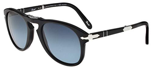 Persol Steve McQueen Limited Edition PO 0714SM Black/Blue Shaded 54/21/140 Men Sunglasses