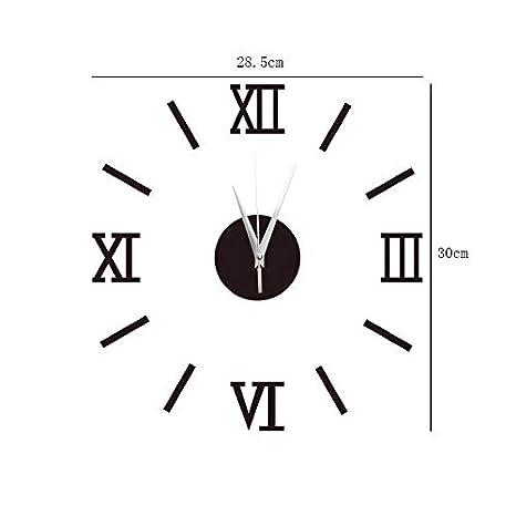 YUNOLL Reloj De Pared DIY Desmontable Ebay Hogar Europeo Y Americano Reloj De Pared Espejo Reloj De Pared Removible Moda Reloj De Pared Espejo Pegatinas De ...