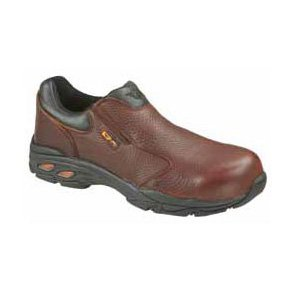 Thorogood Men's Slip-On Plain Toe Metatarsal Composite Safety Shoes- 11.5 M Brown