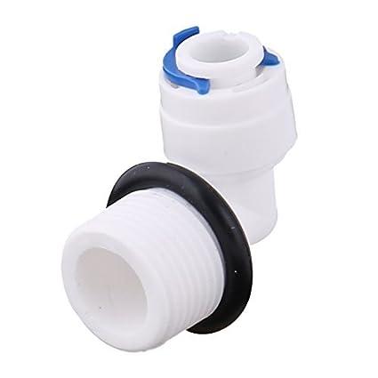 DealMux Plastic Elbow dispensador de água Adaptador Rápido conector macho da linha 3 / 8BSP