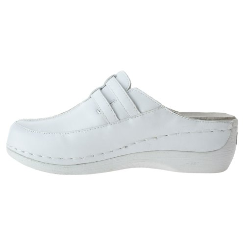 Spring Step Womens Happy Mule White Leather