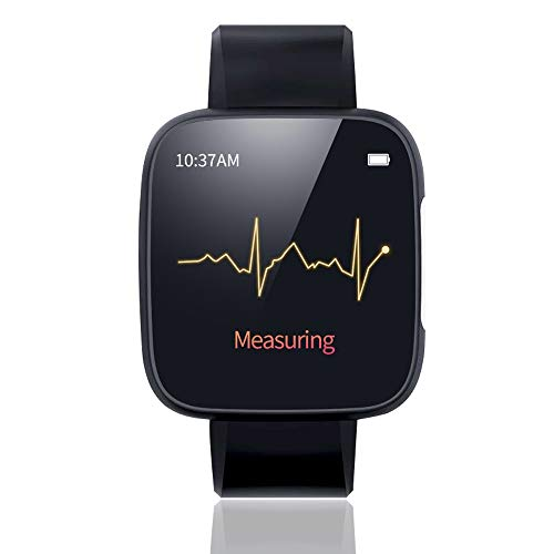 AIOEJP Color Screen Sports Health Monitoring Watch Multi-Function Waterproof Sports Watch High-Precision ECG+PPG ECG Heart Rate Blood Pressure Sports Meter Information Reminder Smart Bracelet (Advocate Wrist Blood Pressure Monitor Automatic Kd 726)