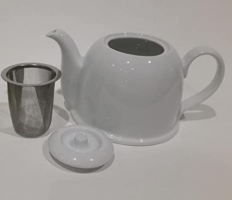 Insulated Porcelain Teapot by Teaazi Teaazi USA Stainless Steel