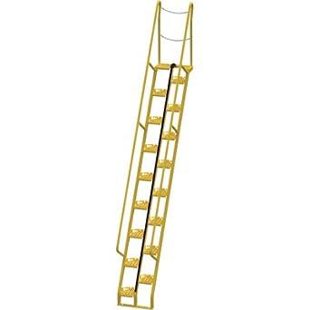 Vestil Alternating Tread Stairs   11 Ft. H, 56 Degree Angle,