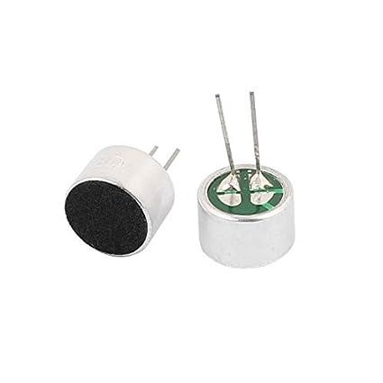 Amazon.com: 10x7mm eDealMax 2pcs recogida 30-44dB micrófono de condensador electret de alta sensibilidad: Electronics