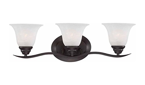 Volume Lighting V5233-79 Trinidad 3-Light Bathroom Vanity, Antique Bronze by Volume Lighting