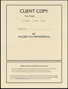 EGP Client Copy Side Staple Tax Cover