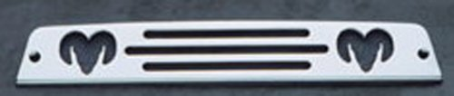 All Sales 44000P Polished Billet Aluminum Third Brake Light Cover - Dodge Ram Logo ()