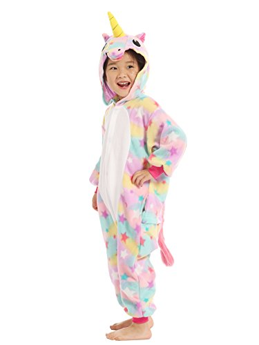 BELIFECOS Pink Star children Unicorn Cosplay Costume Onesie Pajamas For Boy 105 by BELIFECOS (Image #3)