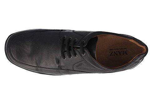 Manz - Zapatos de cordones de Piel para hombre Marrón marrón