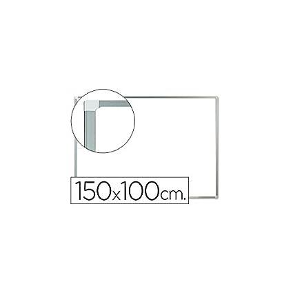 2063e96bc Q-Connect Pizarra Blanca Lacada Magnética Marco De Aluminio 150 x 100 Cm