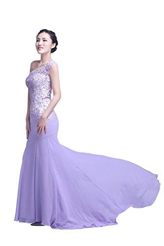 YiYaDawn - Vestido - Una manga - para mujer lila