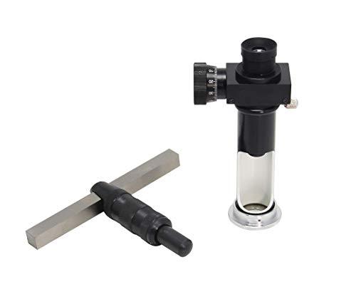 BAOSHISHAN Portable Hammer Hitting Brinell Hardness Tester Meter with Readout Microscope + 4 Bonus Brinell Hard Test Blocks
