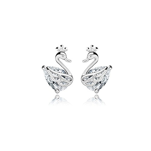 World Book Day 2016 Costumes Adults (Time Pawnshop Imperial Crown Swan Sterling Silver Cute Lady Stud Earrings)