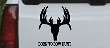 bow hunter fish decal
