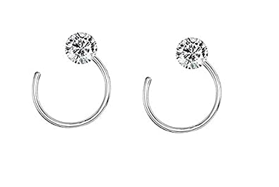 Buy A One Collection Silver Plated With Stone Nose Pin Bali For