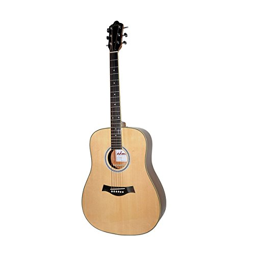 - ADM 41 inch Full Size Premium Dreadnought Solid Spruce Top Acoustic-Electric Guitar with Case