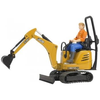 Bruder Mini - Bruder Jcb Micro Excavator 8010 Cts and Construction Worker (Colors May Vary)