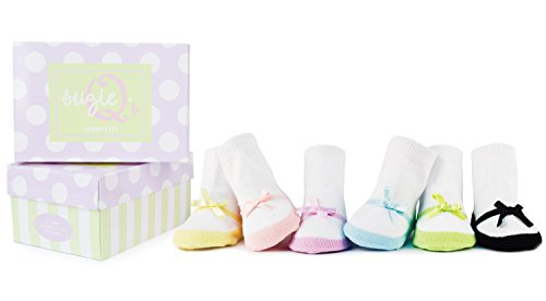 Trumpette Suzie Q 6 Pair Socks, Assorted, 0-12 Months