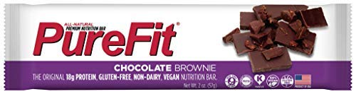 PureFit Chocolate Brownie Premium Nutrition Bars, 15 Count | 18G Protein, Performance Enhancement & Energy Bar - Gluten Free, Dairy Free, Low Carb, Vegan