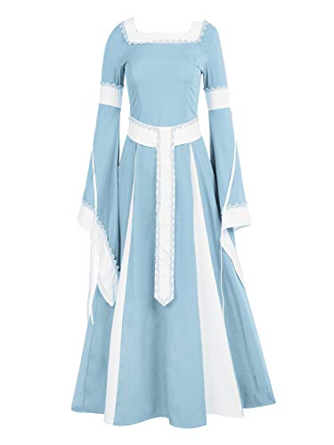 NiuBia Womens Deluxe Medieval Dress Renaissance Costumes Victorian Irish Over Long Dress Cosplay Retro Gown for $<!--$43.98-->
