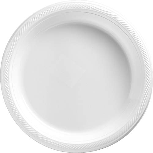Big Party Pack Frosty White Plastic Plates | 10.25