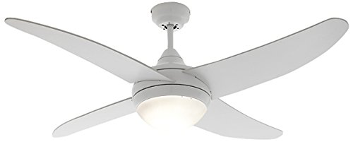 Lovely Wink Design, Fort Wayne, Lampadario/Ventilatore, 4 Pale, Bianco