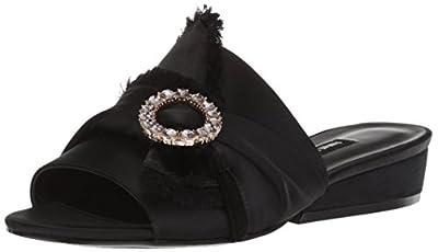 Nine West Women's LAFAY Satin Slide Sandal