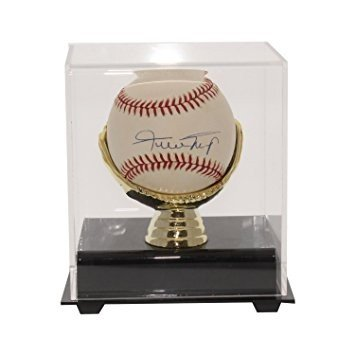 Willie Mays Autographed Rawlings Major League Baseball in Gold Glove Case - JSA Authentic (Gold Willie Mays Gloves)