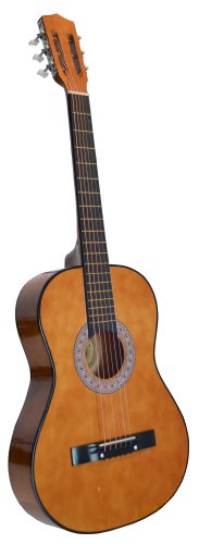 Directly Cheap 6 String Acoustic Guitar Pack, Right Handed, Brown, 7/8 Size (000-BT-GA3810R-CLA+DVD)