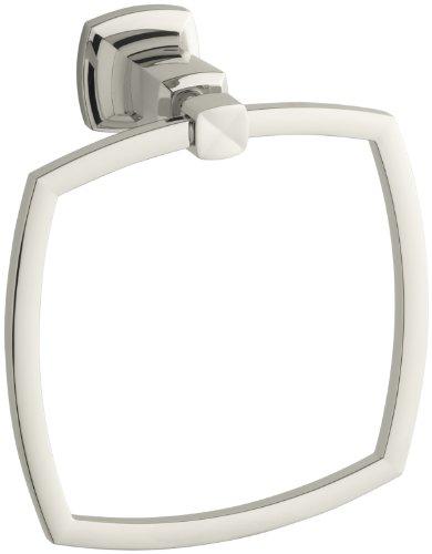 KOHLER K-16254-SN Margaux Towel Ring, Vibrant Polished Nickel -