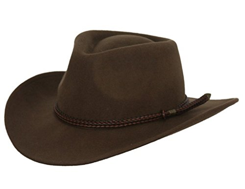 (Outback Trading Co Men's Co. Broken Hill Crushable Australian Wool Hat Brown)
