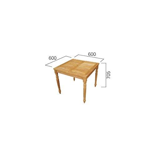 ジャービス商事 コンビネーションテーブル 正方形天板0606型+角脚70 『ガーデンテーブル』 無塗装 B00AE25G1W