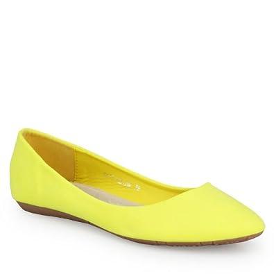 766f1686edae4 Klassische Ballerinas schlicht Damen Schuhe mit Leder Innensohle und super  bequemer Polsterung gelb 39