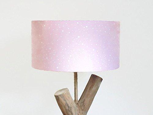 Pantalla de lámpara rosa - estrellas blancas cilindros ...