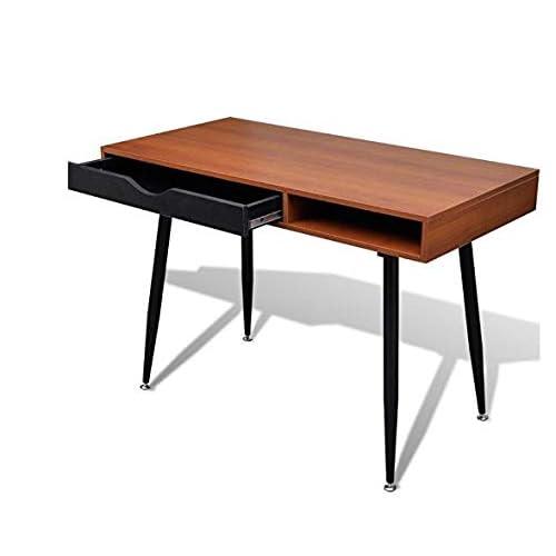 Oversized Wood And Metal Laptop Table: Retro Desks: Amazon.co.uk