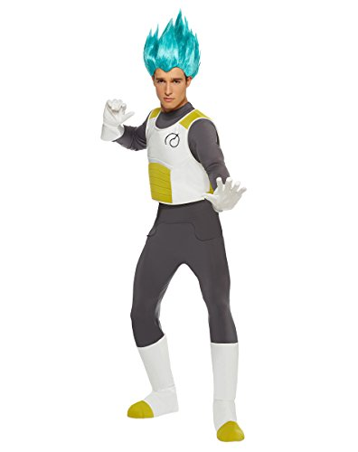 Spirit Halloween Adult Vegeta Costume - Dragon Ball Z Resurrection F,White/Grey,S/ M