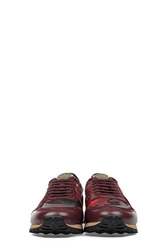 VALENTINO-GARAVANI-MENS-LY2S0723TCCR30-RED-LEATHER-SNEAKERS