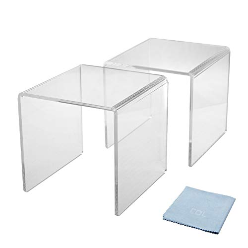 (Combination of Life Clear Acrylic Middle Riser Set of 2 (6 inches W by 6 inches D by 6 inches H))
