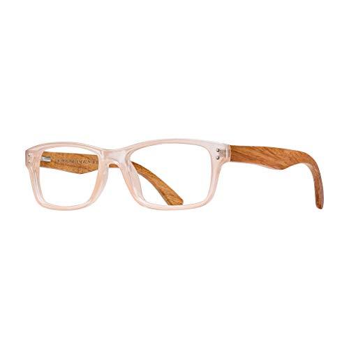 BLUE PLANET Reading Glasses Eco Friendly Women Sustainable Bamboo Ladies Designer Eyeglasses I31X (Blush, 1.50) from Blue Planet