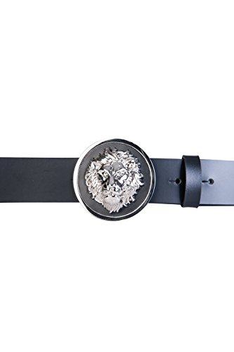 Versace Versus FCU0076 Lion White Silver Buckle Leather Belt 100 - Lion Versace