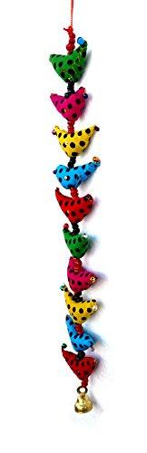 Rastogi Handicrafts Indian Traditional Ten Bird Hanging Layer, Wall Hanging, Door Hanging, Decorative Hanging