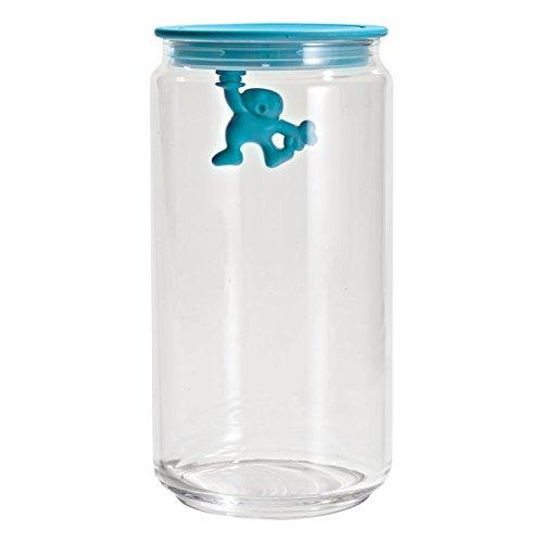 A di Alessi Gianni 6-Cup Glass Jar, Aqua Blue, cl 140 - AMDR06 AZ