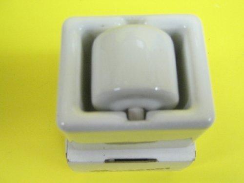(IDL Junior Porcelain Moistener, Genuine Porcelain, White, 1 1/2