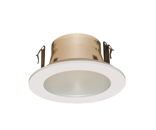 Light Trim Lens Recessed Shower (4 Inches Frosted Lens Shower Trim for Line Voltage Recessed Light/lighting-white Fit Halo/juno)