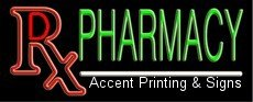 Rx Pharmacy Handcrafted Real GlassTube Neon ()
