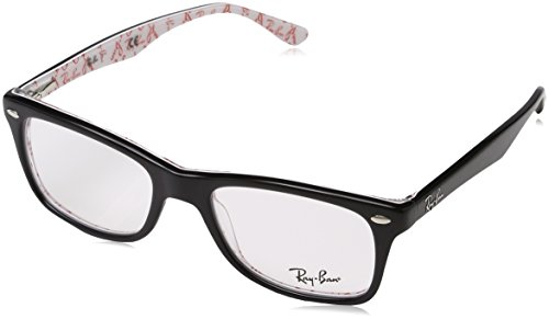Ray-Ban Women's Rx5228 Square Eyeglasses,Top Black & Texture White,50 - Ban Glasses Ray Eyewear
