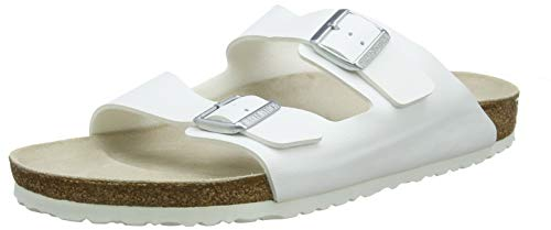 Birkenstock Unisex Arizona White Sandals - 41 M EU / 7.5 F(M) UK